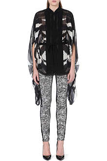 ROBERTO CAVALLI Zebra-patterned silk top
