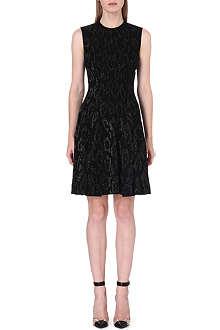 ROBERTO CAVALLI Leopard-print jacquard-knit dress