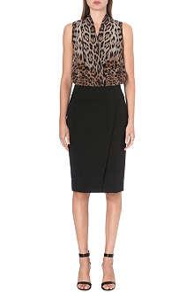 ROBERTO CAVALLI Leopard contrast dress