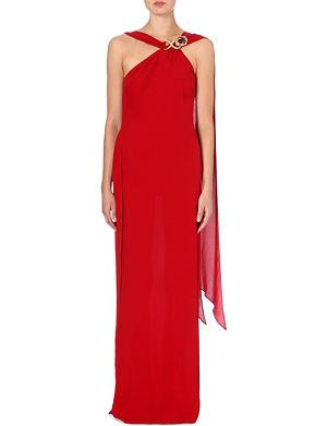 ROBERTO CAVALLI Shoulder-detail silk gown