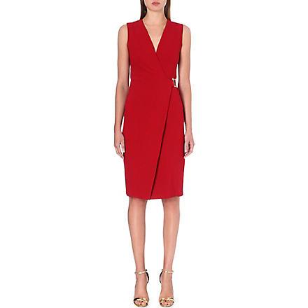 ROBERTO CAVALLI Sleeveless stretch-crepe dress (Red