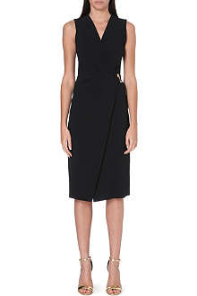 ROBERTO CAVALLI Wrap-style stretch-crepe dress