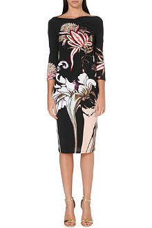 ROBERTO CAVALLI Floral-print stretch-jersey dress
