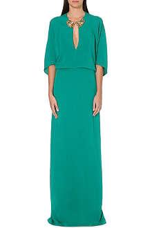 ROBERTO CAVALLI Silk kaftan gown