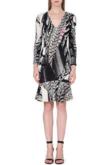 ROBERTO CAVALLI Printed flared-hem dress