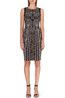 ROBERTO CAVALLI Leopard-print stretch-crepe dress