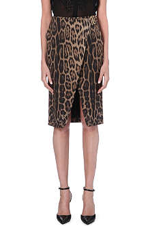 ROBERTO CAVALLI Leopard pencil skirt