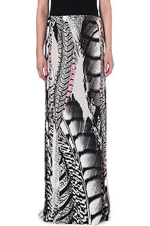 ROBERTO CAVALLI Silk printed maxi skirt