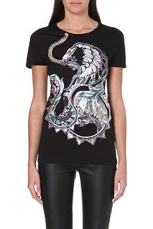 ROBERTO CAVALLI Dragon-print t-shirt