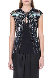 ROBERTO CAVALLI Printed stretch-jersey top