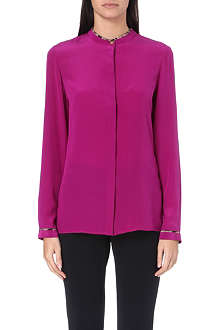 ROBERTO CAVALLI Long-sleeved silk shirt