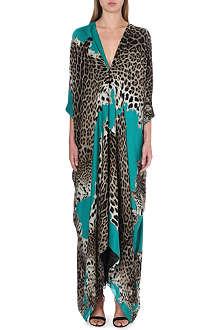 ROBERTO CAVALLI Leopard-print silk kaftan