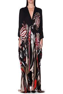ROBERTO CAVALLI Floral silk kaftan