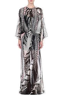 ROBERTO CAVALLI Leopard-print silk-chiffon kaftan