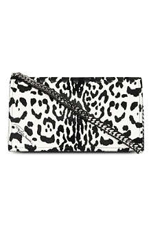 ROBERTO CAVALLI Regina leather and ponyskin clutch