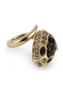 ROBERTO CAVALLI Jewel-encrusted snake ring