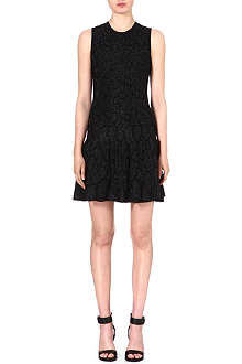 ROBERTO CAVALLI Animal-print jacquard-knit dress