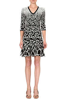 ROBERTO CAVALLI Jacquard animal print dress
