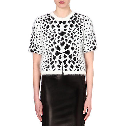 ROBERTO CAVALLI Animal-print cardigan (Multi / black