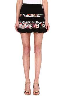 ROBERTO CAVALLI Floral panel mini skirt