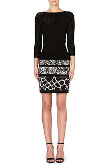 ROBERTO CAVALLI Animal-print knit dress