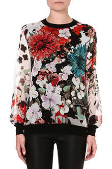 ROBERTO CAVALLI Knitted floral jumper
