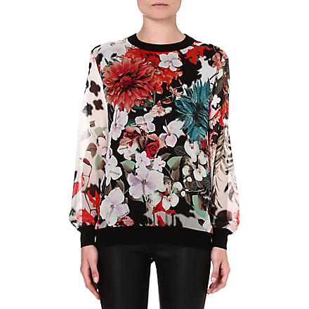 ROBERTO CAVALLI Knitted floral jumper (Multi