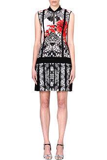 ROBERTO CAVALLI Floral-print crepe dress