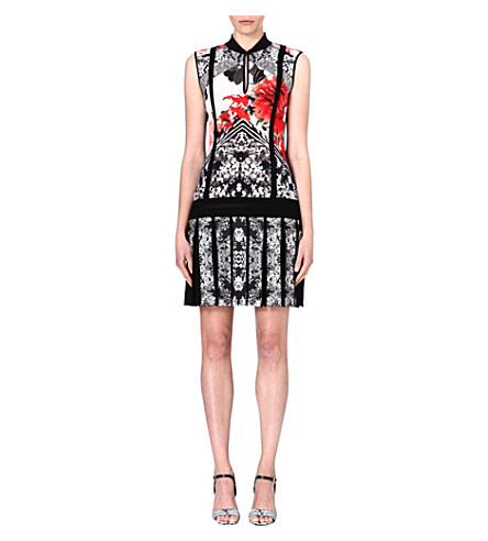 ROBERTO CAVALLI Floral-print crepe dress (Multi
