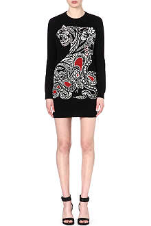 ROBERTO CAVALLI Tiger knitted dress