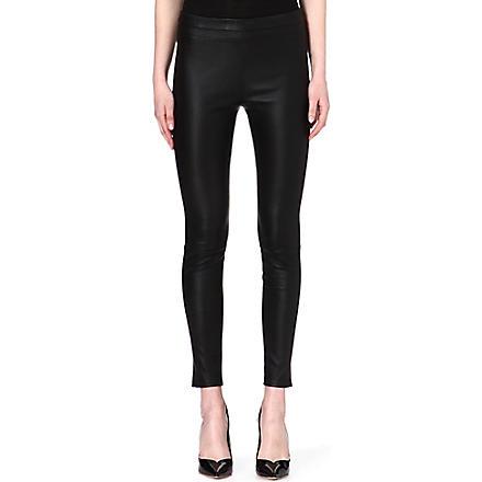 ROBERTO CAVALLI Leather leggings (Black