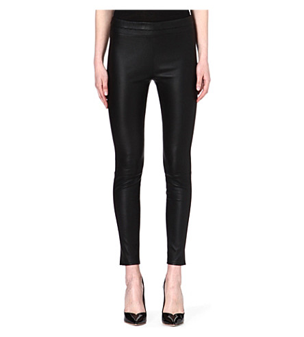 ROBERTO CAVALLI Leather leggings (Black