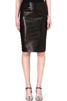 ROBERTO CAVALLI Leather pencil skirt