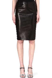 ROBERTO CAVALLI Leather pencil skirt