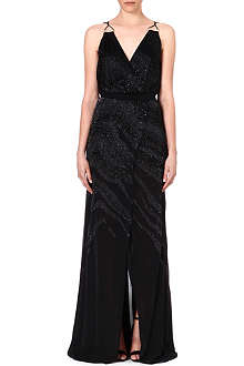 ROBERTO CAVALLI Beaded silk gown