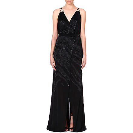 ROBERTO CAVALLI Beaded silk gown (Black