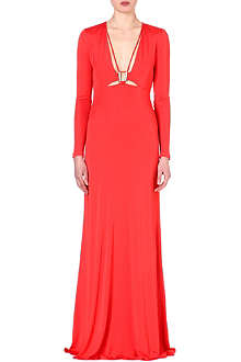 ROBERTO CAVALLI Long-sleeved jersey gown