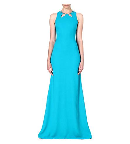 ROBERTO CAVALLI Crepe maxi dress (Turquoise