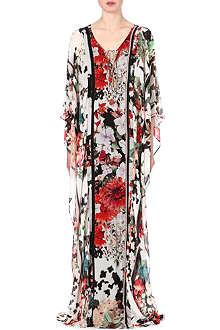 ROBERTO CAVALLI Floral-print silk kaftan