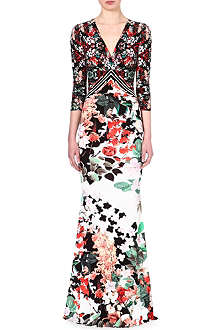 ROBERTO CAVALLI Floral crepe gown