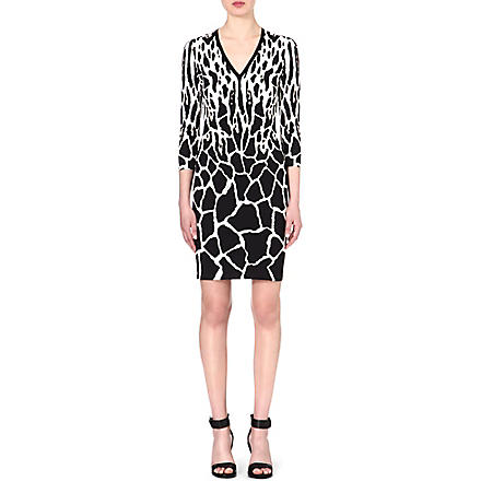 ROBERTO CAVALLI Animal-print dress (Black
