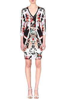 ROBERTO CAVALLI Floral stretch-crepe dress