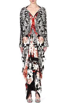 ROBERTO CAVALLI Floral-print silk dress