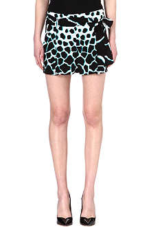 ROBERTO CAVALLI Animal-print silk shorts