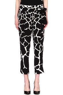 ROBERTO CAVALLI Printed silk harem trousers