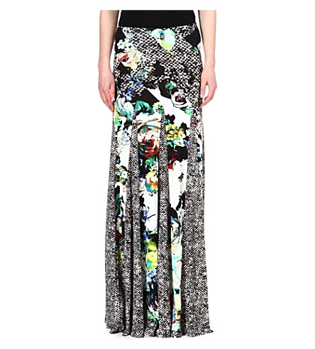 ROBERTO CAVALLI Printed maxi skirt (Multi /yellow