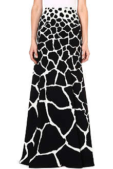 ROBERTO CAVALLI Abstract print maxi skirt