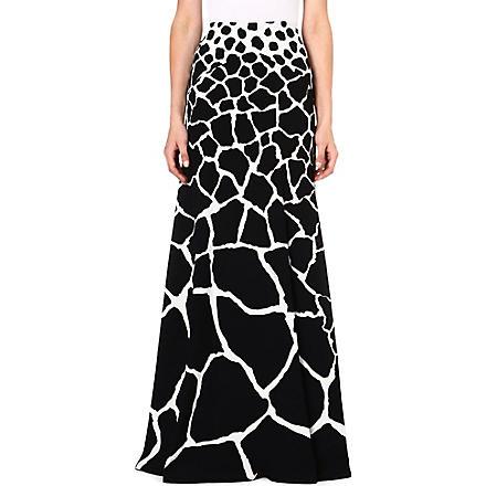 ROBERTO CAVALLI Abstract print maxi skirt (Black