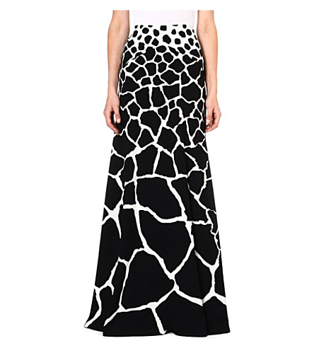 ROBERTO CAVALLI Abstract print maxi skirt (Black