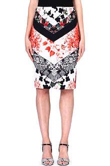 ROBERTO CAVALLI Floral-print pencil skirt